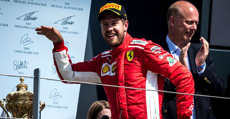 British GP 2018: Red-coloured podium on Hamilton's turf