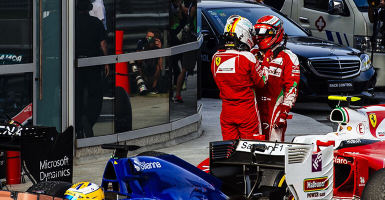 Chinese GP 2016 - Ferrari. Sebastian and Kimi
